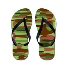Military inspired army fashion Flip Flops