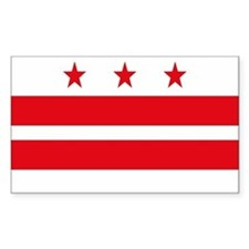 District of Columbia Rectangle Bumper Stickers