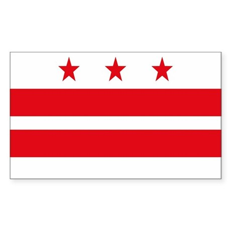 District of Columbia Rectangle Sticker
