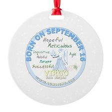 September 16th Birthday - Virgo Per Ornament
