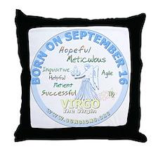 September 16th Birthday - Virgo Perso Throw Pillow