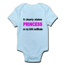 It clearly states Princess on my birth certifica B