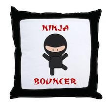 Ninja Bouncer Throw Pillow
