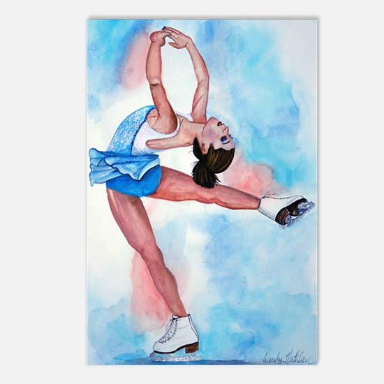 Ice Skater Layback Spin Postcards (Package of 8)