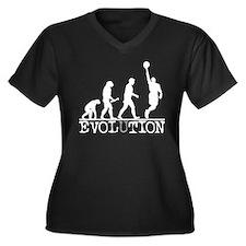 EVOLUTION Basketball Women's Plus Size V-Neck Dark