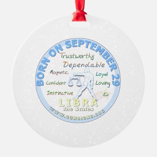 September 29th Birthday - Libra Per Ornament