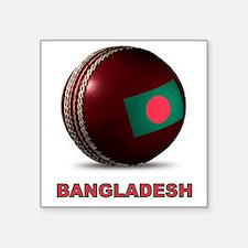 "Cute Bangladesh Square Sticker 3"" x 3"""