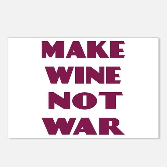 Make Wine Not War Postcards (Package of 8)