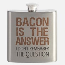 Bacon Is The Answer Flask
