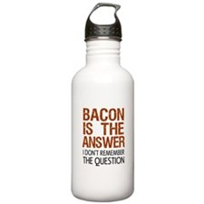 Bacon Is The Answer Water Bottle