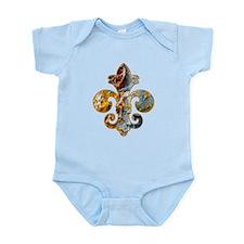 Fleur de lis Faux Paint 5 Infant Bodysuit