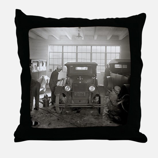 Auto Body Shop, 1926 Throw Pillow