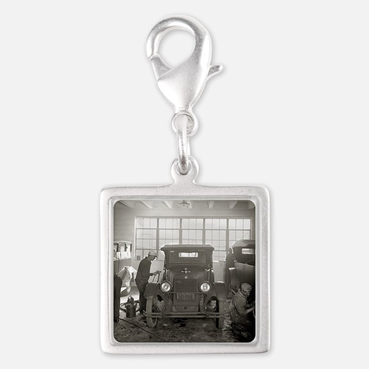 Auto Body Shop, 1926 Silver Square Charm