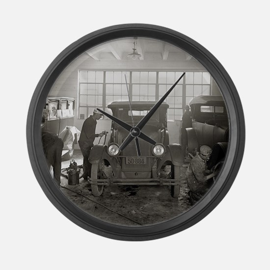 Auto Body Shop, 1926 Large Wall Clock