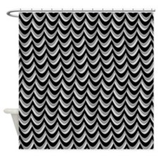 Thunderstorm Chevron Shower Curtain
