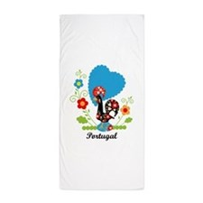 Portuguese Rooster Beach Towel