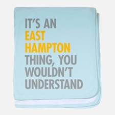 Its An East Hampton Thing baby blanket