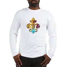Fleur de lis Faux Paint 4 Long Sleeve T-Shirt