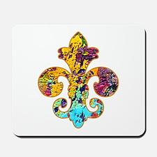 Fleur de lis Faux Paint 4 Mousepad