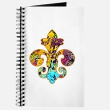 Fleur de lis Faux Paint 4 Journal