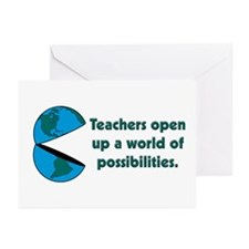 Presents for teachers Greeting Cards (Pk of 10