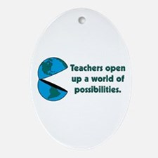 Presents for teachers Oval Ornament