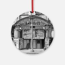 Empress Movie Theater, 1939 Round Ornament