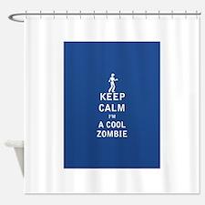 Keep Calm Im a Cool Zombie - FULL Shower Curtain