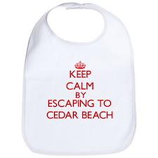 Keep calm by escaping to Cedar Beach New York Bib