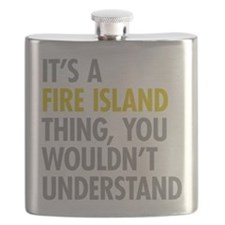 Its A Fire Island Thing Flask