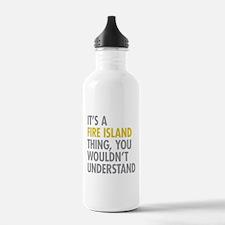 Its A Fire Island Thin Water Bottle