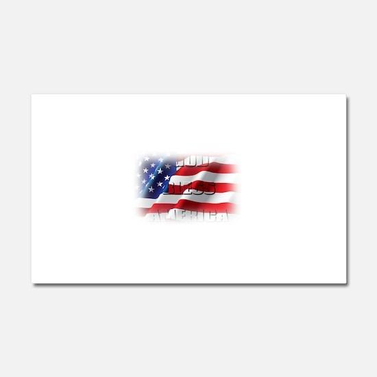 Patriotic God Bless America Car Magnet 20 x 12