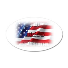 Patriotic God Bless America Wall Decal