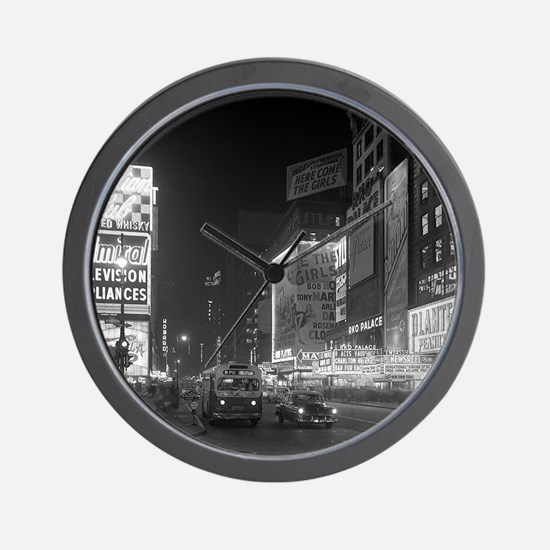 Times Square at Night, 1953 Wall Clock