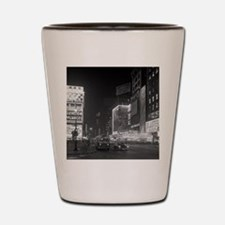 Times Square at Night, 1953 Shot Glass