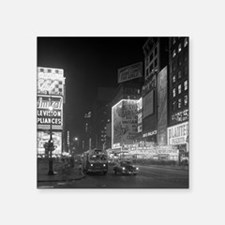 """Times Square at Night, 1953 Square Sticker 3"""" x 3"""""""
