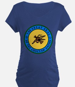 Great Seal Of The Choctaw Nation Maternity T-Shirt