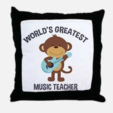 Worlds Greatest Music Teacher Monkey with Guitar T