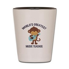 Worlds Greatest Music Teacher Monkey with Guitar S