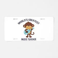Worlds Greatest Music Teacher Monkey with Guitar A