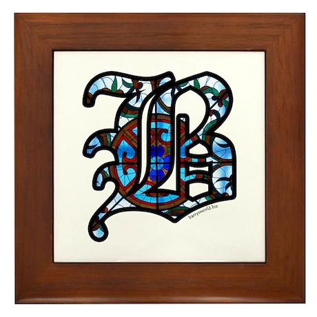 Stained Glass B2 Framed Tile