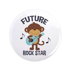 """Future Rock Star Monkey With Guitar 3.5"""" Butt"""