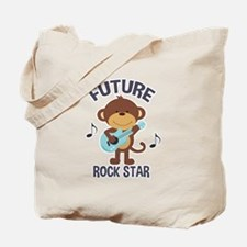 Future Rock Star Monkey with Guitar Tote Bag