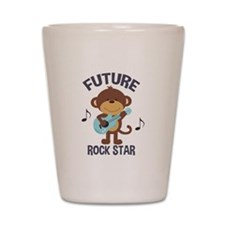 Future Rock Star Monkey with Guitar Shot Glass