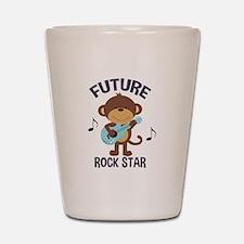 Future Rock Star Monkey with Guitar Shot Glass