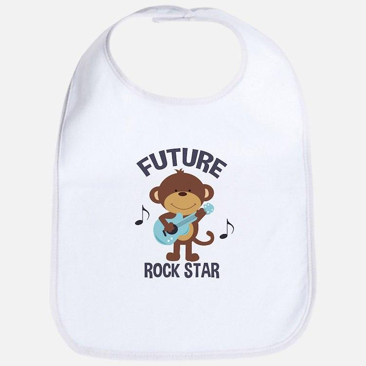 Future Rock Star Monkey with Guitar Bib