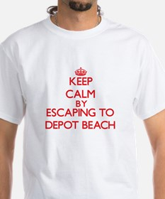 Keep calm by escaping to Depot Beach Michigan T-Sh