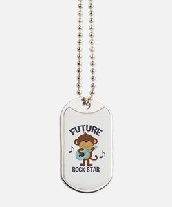 Future Rock Star Monkey with Guitar Dog Tags