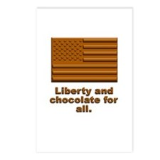 Liberty & Chocolate Postcards (Package of 8)