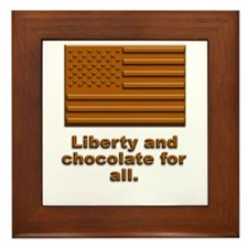 Liberty & Chocolate Framed Tile